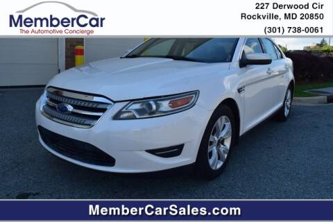 2012 Ford Taurus for sale at MemberCar in Rockville MD