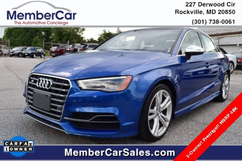 2015 Audi S3 for sale at MemberCar in Rockville MD