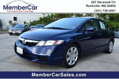 2010 Honda Civic for sale at MemberCar in Rockville MD