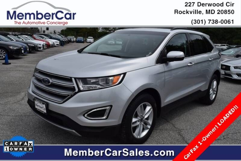 2016 Ford Edge for sale at MemberCar in Rockville MD