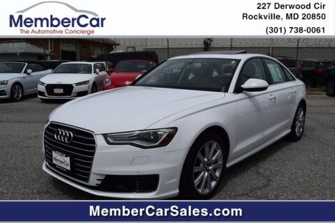 2016 Audi A6 for sale at MemberCar in Rockville MD