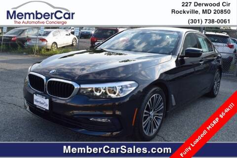 2017 BMW 5 Series for sale at MemberCar in Rockville MD