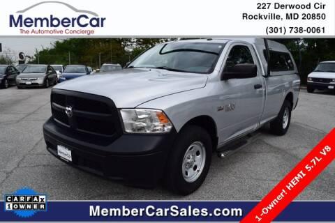 2014 RAM Ram Pickup 1500 for sale at MemberCar in Rockville MD