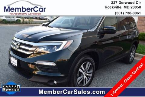 2016 Honda Pilot for sale at MemberCar in Rockville MD