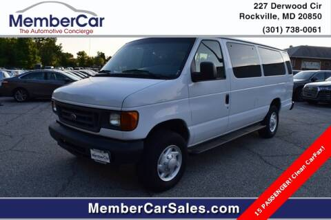 2007 Ford E-Series Wagon for sale at MemberCar in Rockville MD