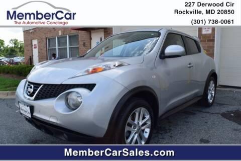 2013 Nissan JUKE for sale at MemberCar in Rockville MD