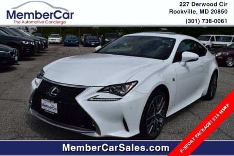 2017 Lexus RC 300 for sale at MemberCar in Rockville MD