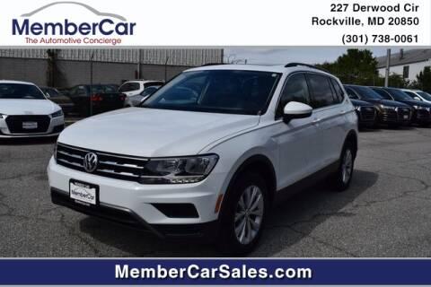 2018 Volkswagen Tiguan for sale at MemberCar in Rockville MD