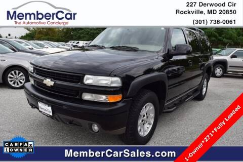 2004 Chevrolet Suburban for sale at MemberCar in Rockville MD