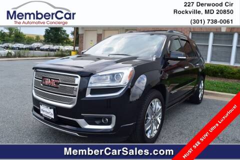2013 GMC Acadia for sale at MemberCar in Rockville MD
