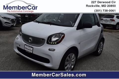 2016 Smart fortwo for sale at MemberCar in Rockville MD