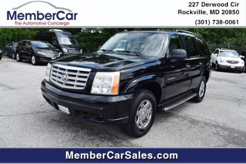 2004 Cadillac Escalade for sale at MemberCar in Rockville MD
