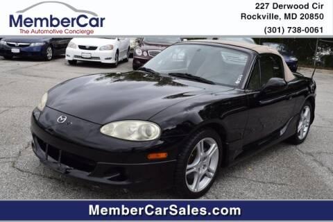 2004 Mazda MX-5 Miata for sale at MemberCar in Rockville MD