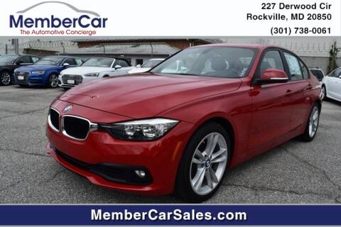 2016 BMW 3 Series for sale at MemberCar in Rockville MD
