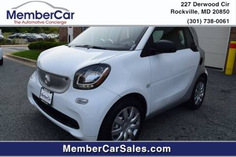 2017 Smart fortwo for sale at MemberCar in Rockville MD