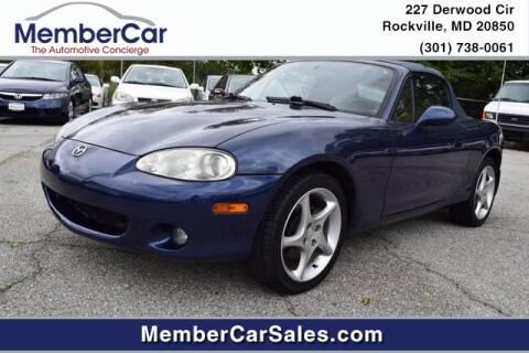 2002 Mazda MX-5 Miata for sale at MemberCar in Rockville MD