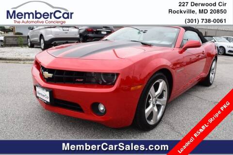 2011 Chevrolet Camaro for sale at MemberCar in Rockville MD