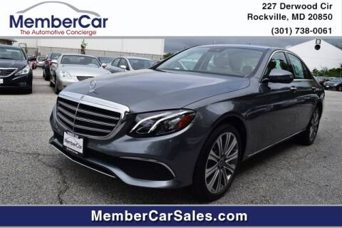 2018 Mercedes-Benz E-Class for sale at MemberCar in Rockville MD