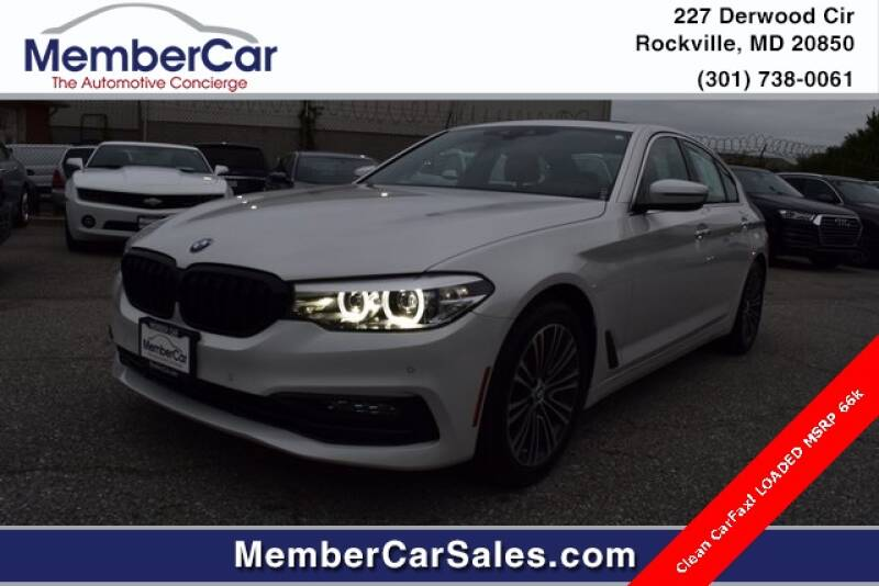 2018 BMW 5 Series for sale at MemberCar in Rockville MD