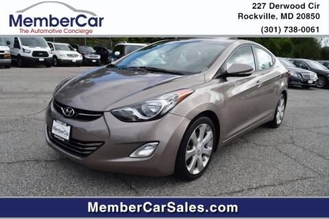 2013 Hyundai Elantra for sale at MemberCar in Rockville MD