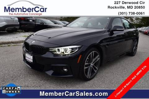 2019 BMW 4 Series for sale at MemberCar in Rockville MD