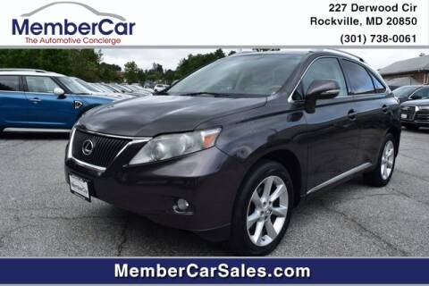 2010 Lexus RX 350 for sale at MemberCar in Rockville MD