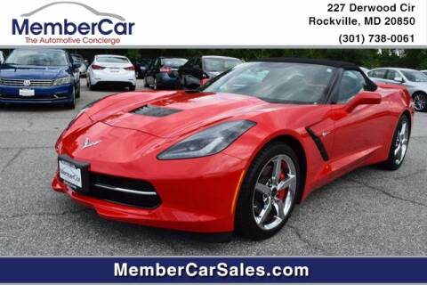 2014 Chevrolet Corvette for sale at MemberCar in Rockville MD
