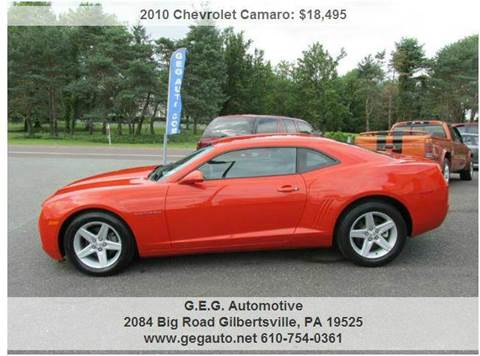2010 Chevrolet Camaro for sale at GEG Automotive in Gilbertsville PA