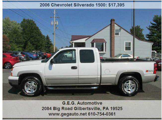 2006 Chevrolet Silverado 1500 Z71 Lt1 4dr Extended Cab 4wd 65 Ft