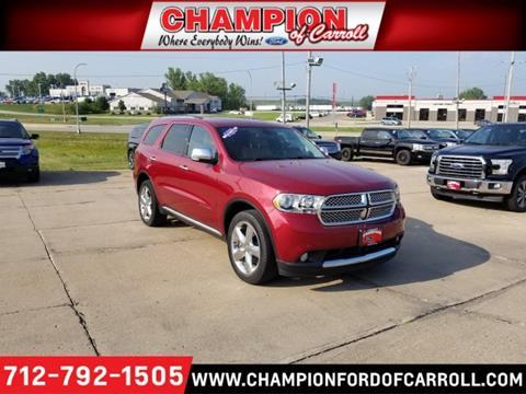 2013 Dodge Durango for sale in Carroll, IA