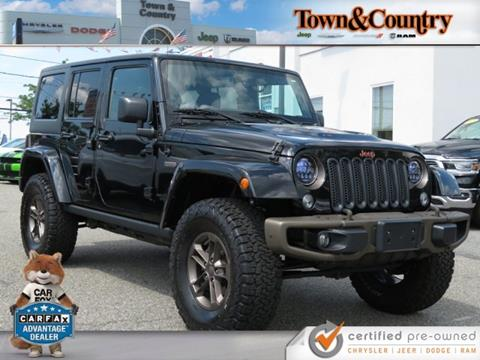 2017 Jeep Wrangler Unlimited for sale in Levittown, NY