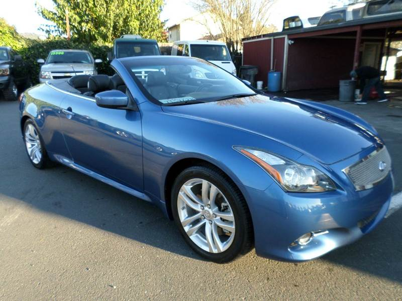 2013 INFINITI G37 CONVERTIBLE BASE 2DR CONVERTIBLE blue 2-stage unlocking doors abs - 4-wheel a