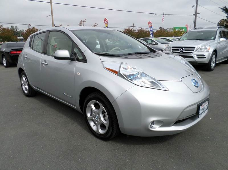 2012 NISSAN LEAF SL 4DR HATCHBACK silver heated seats navi abs - 4-wheel active head re