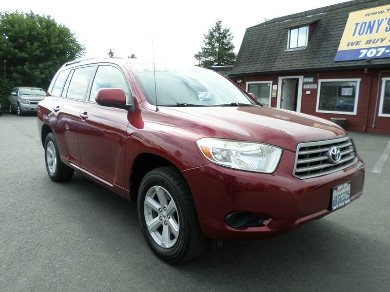 2008 TOYOTA HIGHLANDER BASE AWD 4DR SUV maroon 3rd row seating 4wd type - full time abs -