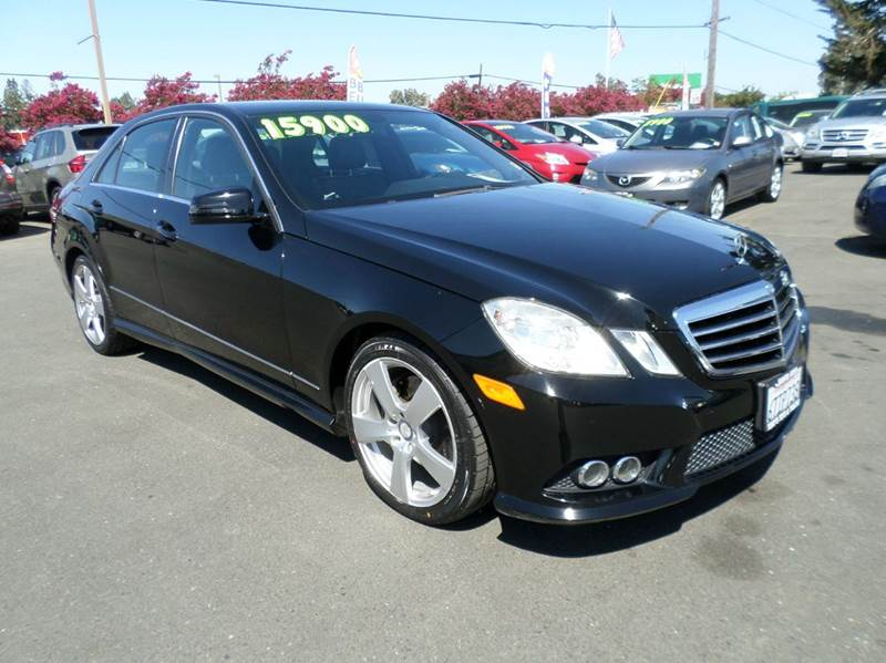 2010 MERCEDES-BENZ E-CLASS E 350 LUXURY 4DR SEDAN black new tires 2-stage unlocking doors