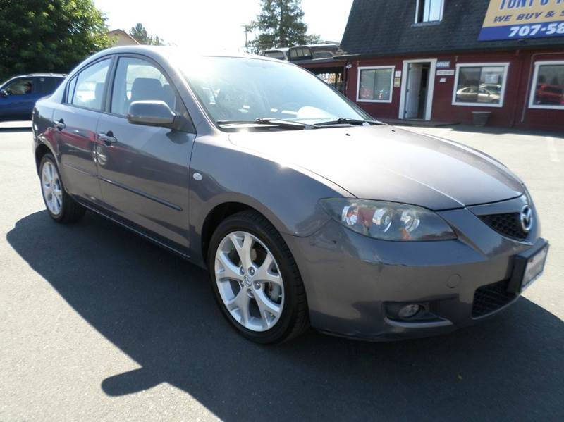 2008 MAZDA MAZDA3 I TOURING 4DR SEDAN 4A gray new tires2331 mpg 2-stage unlocking doors a