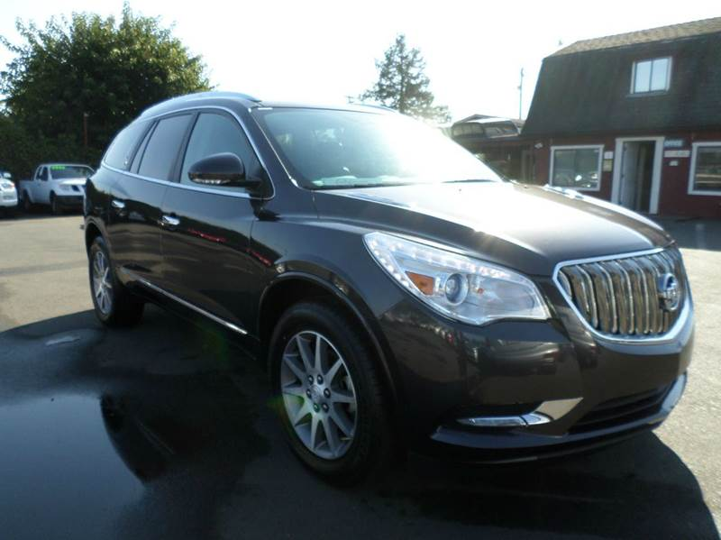 2015 BUICK ENCLAVE LEATHER 4DR CROSSOVER gray new tiresnavi3rd row seating 2-st