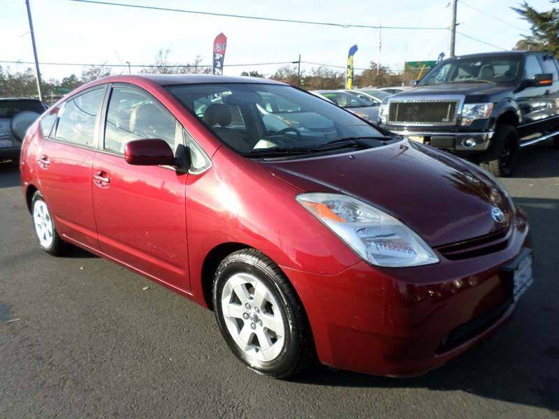 2005 TOYOTA PRIUS BASE 4DR HATCHBACK red one owner vehicle leathernew tires abs - 4-w
