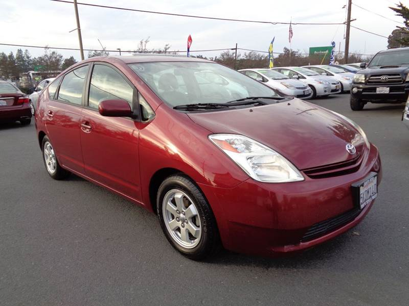 2005 TOYOTA PRIUS BASE 4DR HATCHBACK red abs - 4-wheel center console - front console with stora
