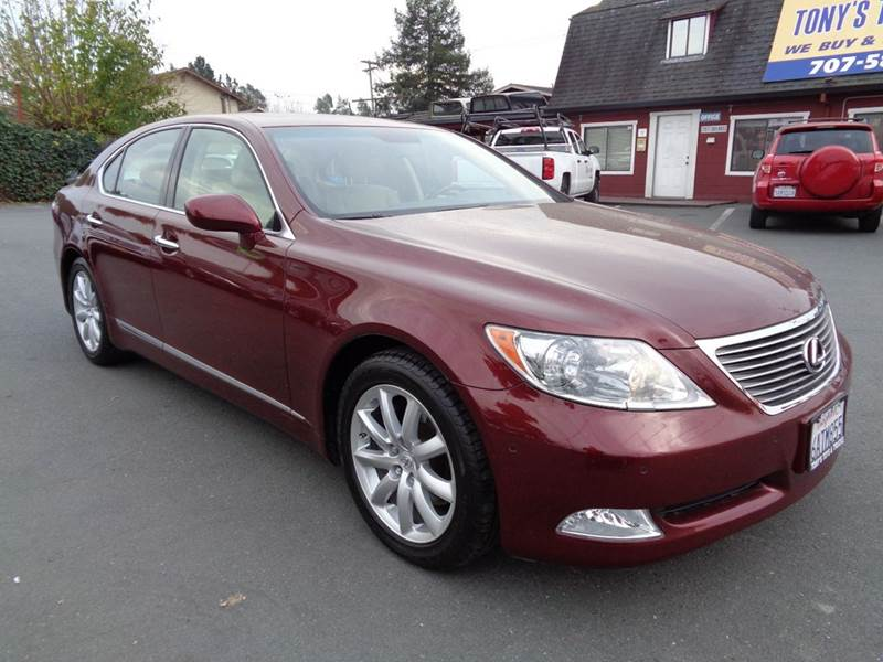 2007 LEXUS LS 460 BASE 4DR SEDAN burgundy one owner clean vehicle 2-stage unlocking doors