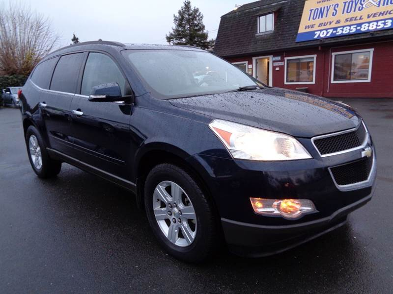 2012 CHEVROLET TRAVERSE LT AWD 4DR SUV W 1LT blue 3rd row seating 4wd type - full time ab