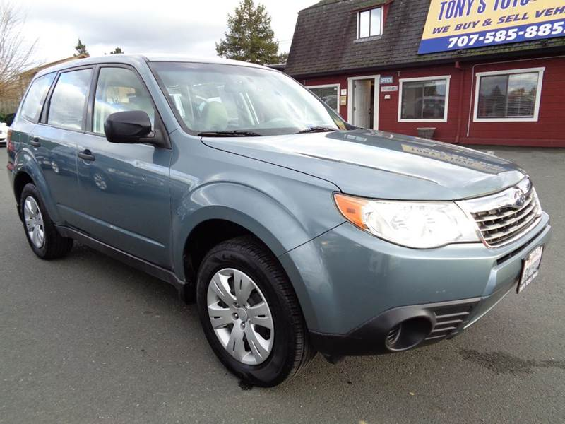 2009 SUBARU FORESTER 25 X AWD 4DR WAGON 4A lt green 2-stage unlocking doors 4wd type - full tim