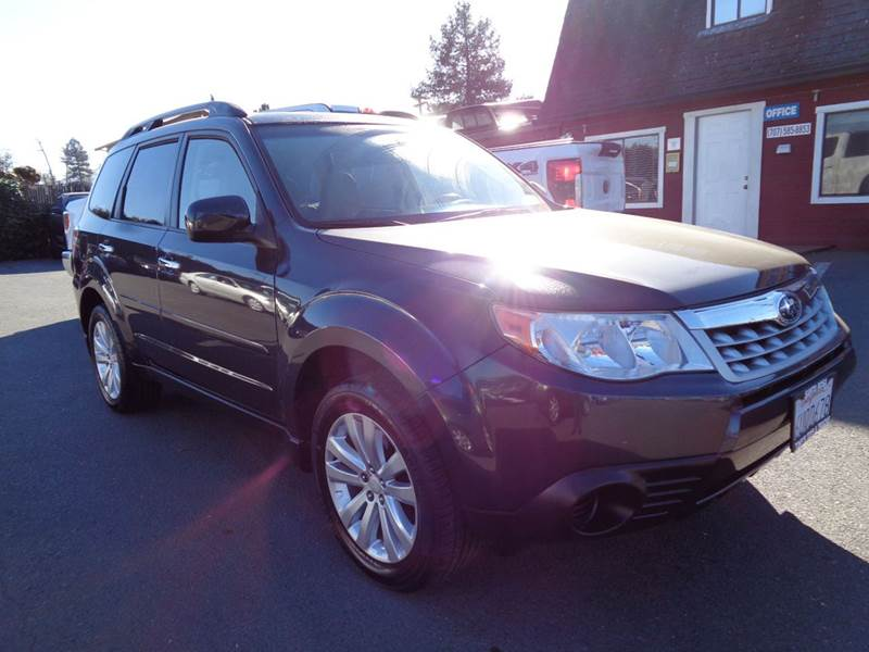 2012 SUBARU FORESTER 25X PREMIUM AWD 4DR WAGON 4A blue one owner vehiclenew tires 2-sta