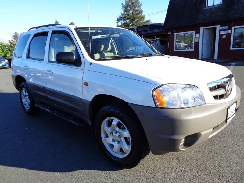 2004 MAZDA TRIBUTE DX 4WD 4DR SUV white 5sp manual 4x4 4wd type - on demand axle rat