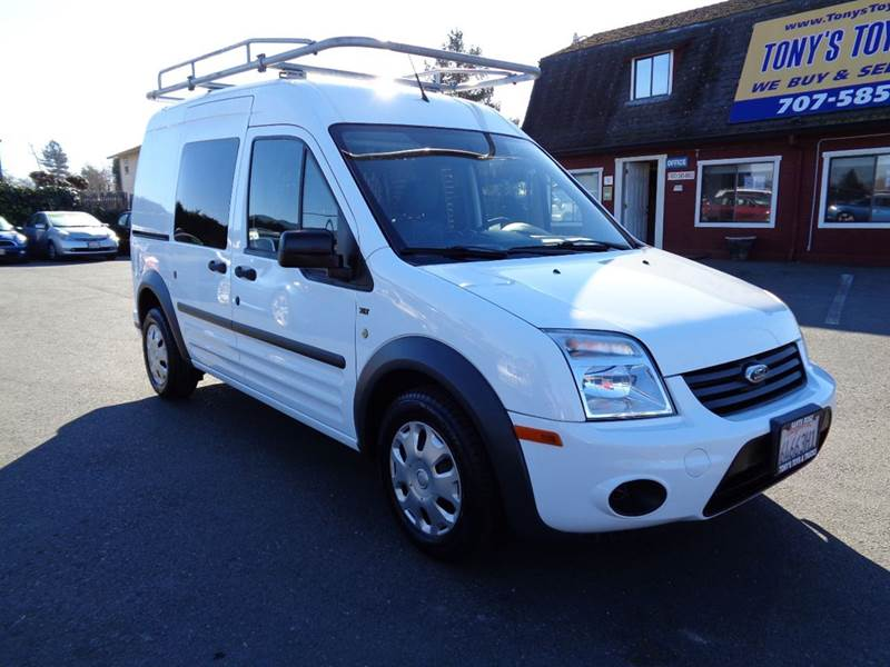 2012 FORD TRANSIT CONNECT CARGO VAN XLT 4DR MINI WSIDE AN white new tires abs - 4-wheel