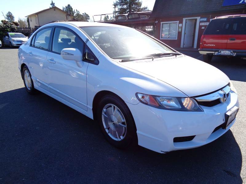2009 HONDA CIVIC HYBRID 4DR SEDAN white hybrid 2-stage unlocking doors abs - 4-wheel airba