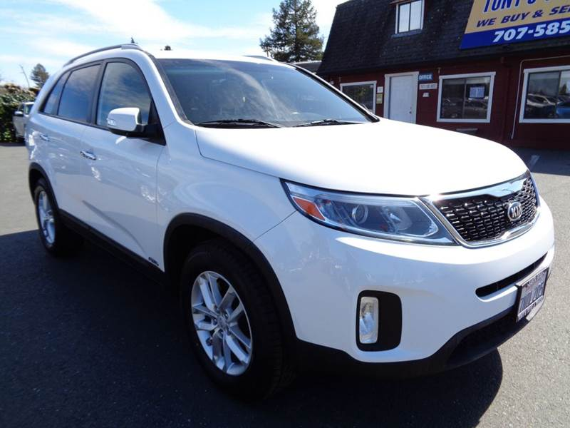 2015 KIA SORENTO LX AWD 4DR SUV white one onwer vehicleawd 2-stage unlocking doors 4wd