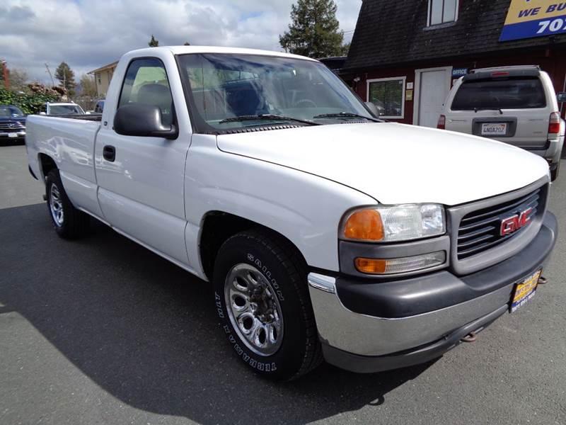 2000 GMC SIERRA 1500 SL 2DR STANDARD CAB LB white new tires long bed   43l v6 miles