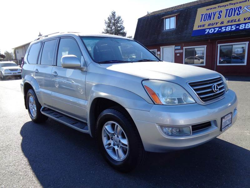 2004 LEXUS GX 470 BASE 4WD 4DR SUV silver 3rd row seatingnavi 4wd type - full time abs - 4-
