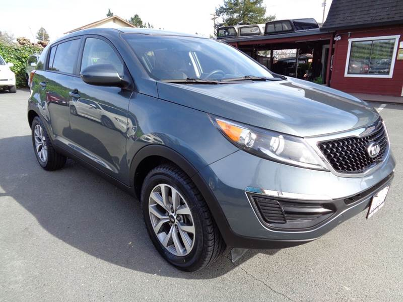 2015 KIA SPORTAGE LX 4DR SUV green new tires 2-stage unlocking doors abs - 4-wheel active